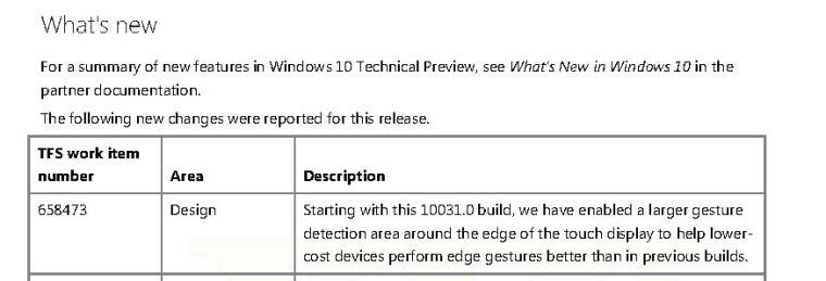 Windows 10 Changelog