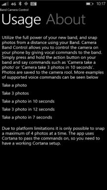 Band Camera Control Screenshot
