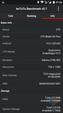 ZTE Blade S6 Plus Screenshot