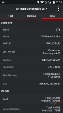 ZTE Blade S6 Plus Screenshot
