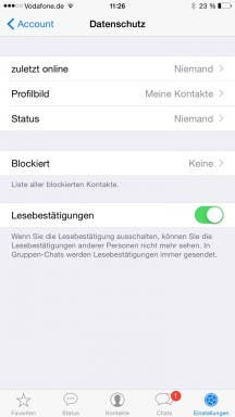 WhatsApp für iOS: Datenschutz-Einstellungen