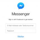 Facebook Messenger Webseite