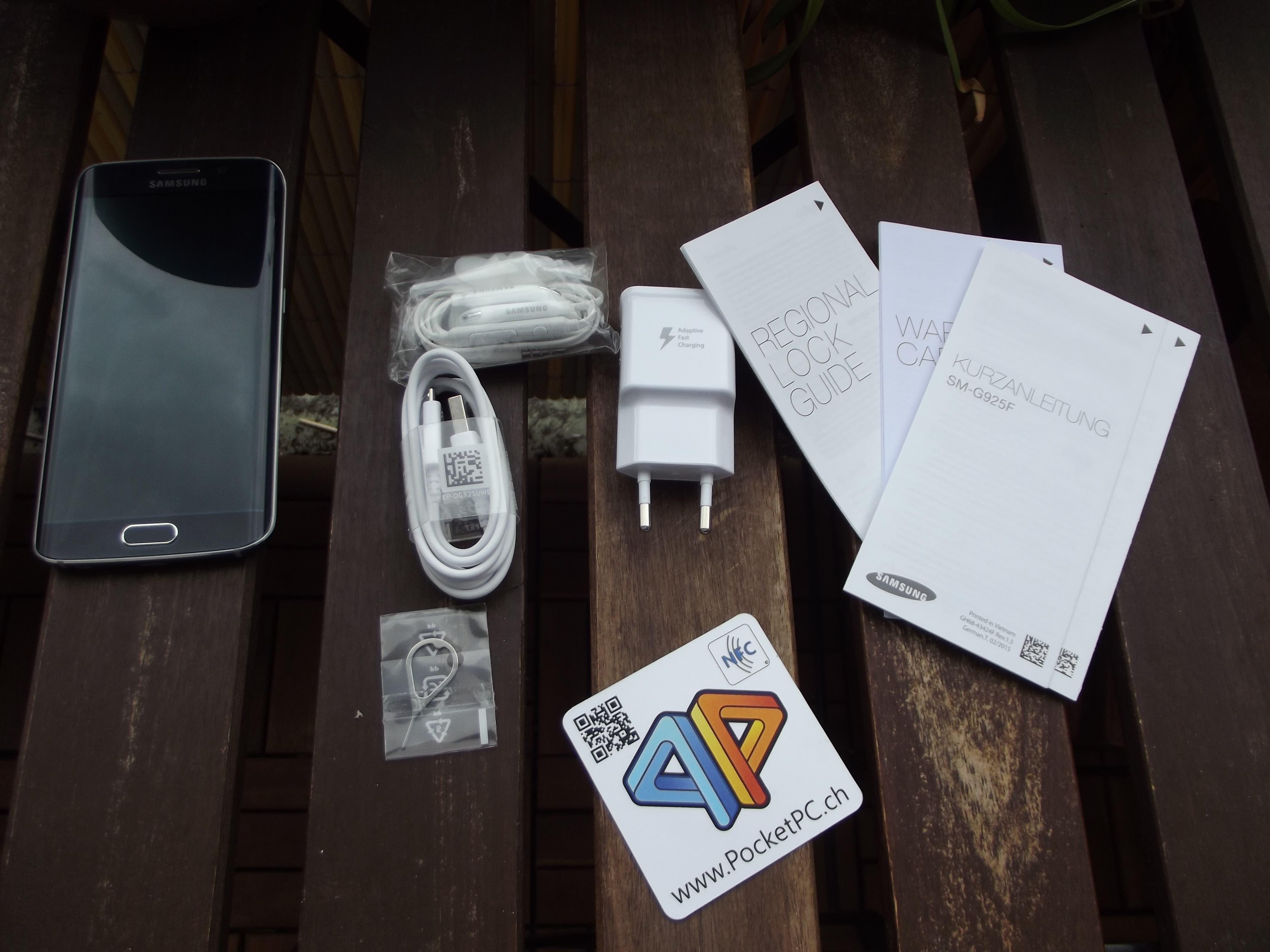 Samsung Galaxy S6 edge Lieferumfang