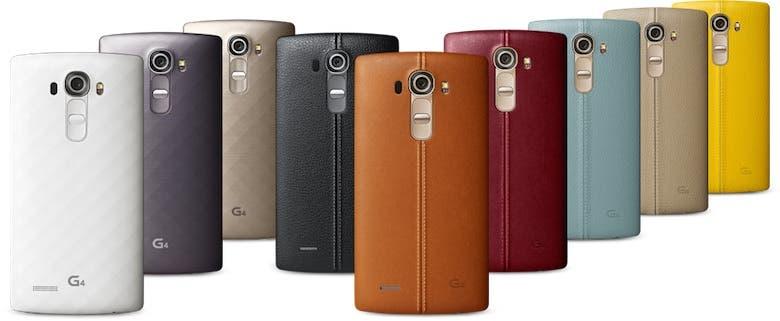 LG G4 in mehreren Farben