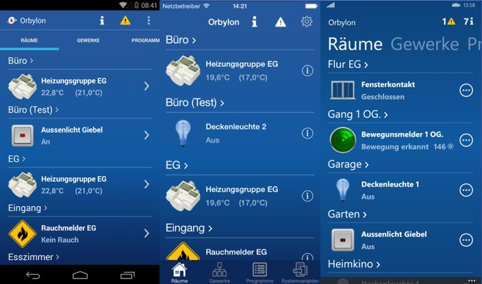 Orbylon Apps für Android, iOS und Windows Phone