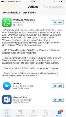 WhatsApp für iOS: Changelog