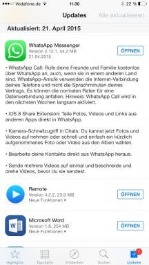 WhatsApp für iOS: Changelog