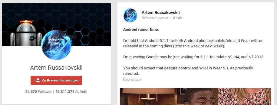 Android 5.1.1 Update Info