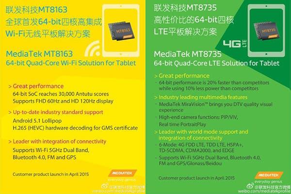 Neue MediaTek CPUs für Tablets