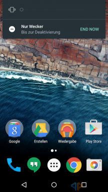 Android M Lautstärkeregler