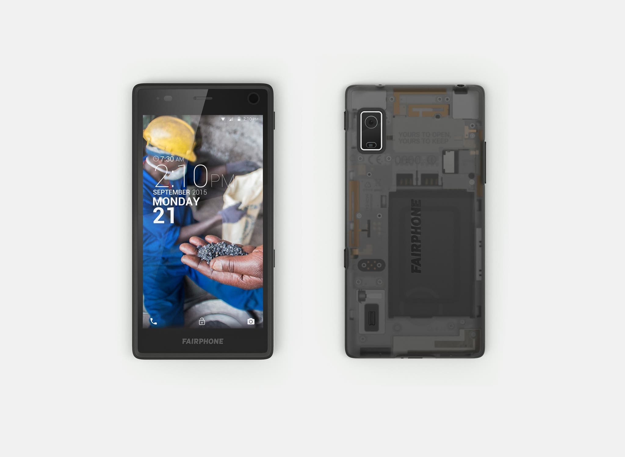 Fairphone 2 Front Back
