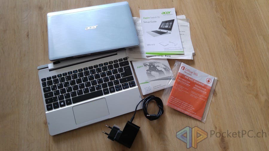 Acer Aspire Switch 10 FHD Lieferumfang