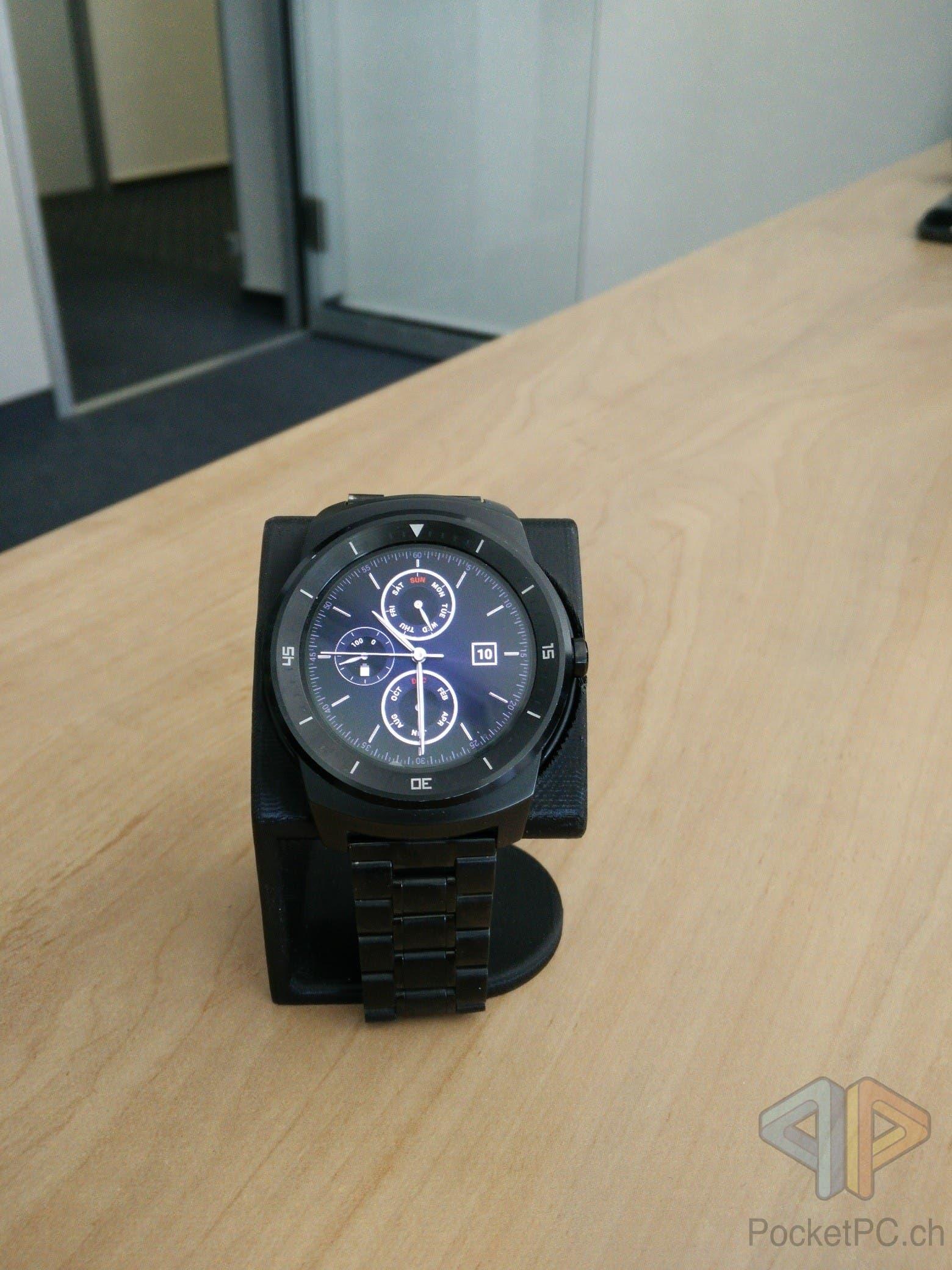 G Watch R mit Chronis Silber Watchface