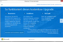 Windows 10 Upgrade Reservierung