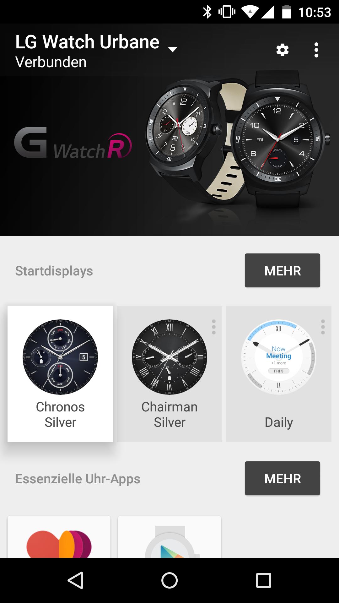 G Watch R wird als Urbane erkannt