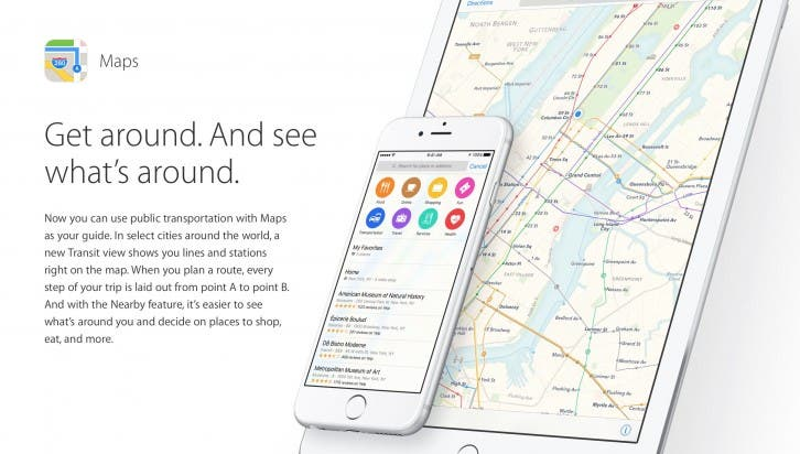 iOS 9 Apple Maps