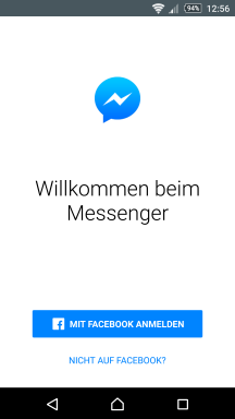 facebook messenger sofort ohne konto nutzbar