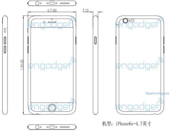 iPhone 6s Schemazeichnungen