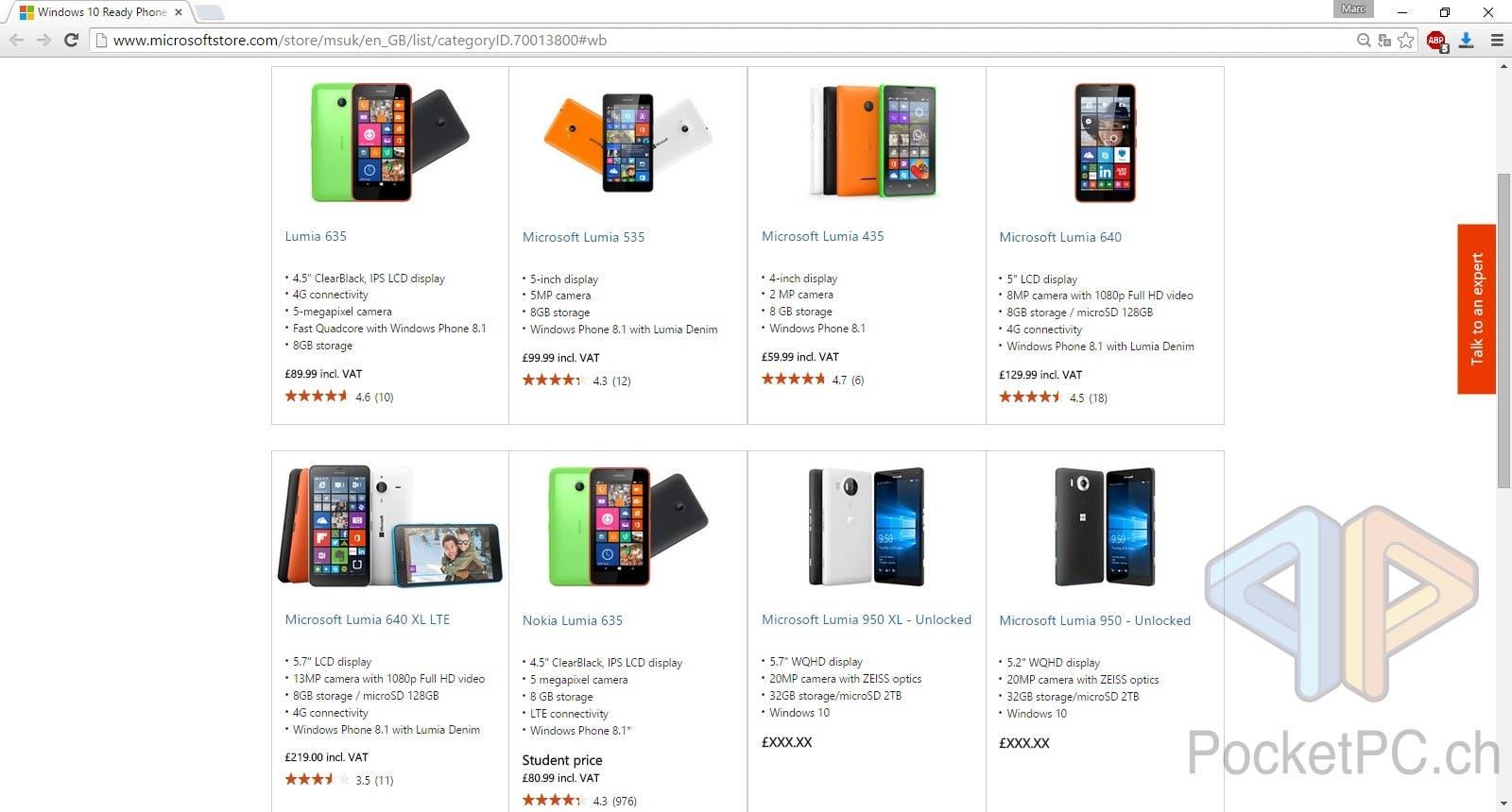 Lumia 950 Lumia 950XL shop