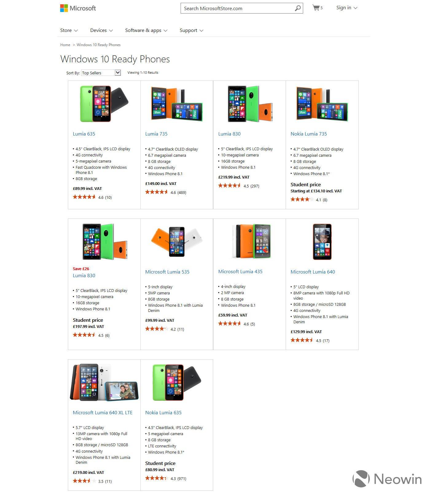 Microsoft store lumia windows 10 update