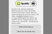 Spotify-Seite der App