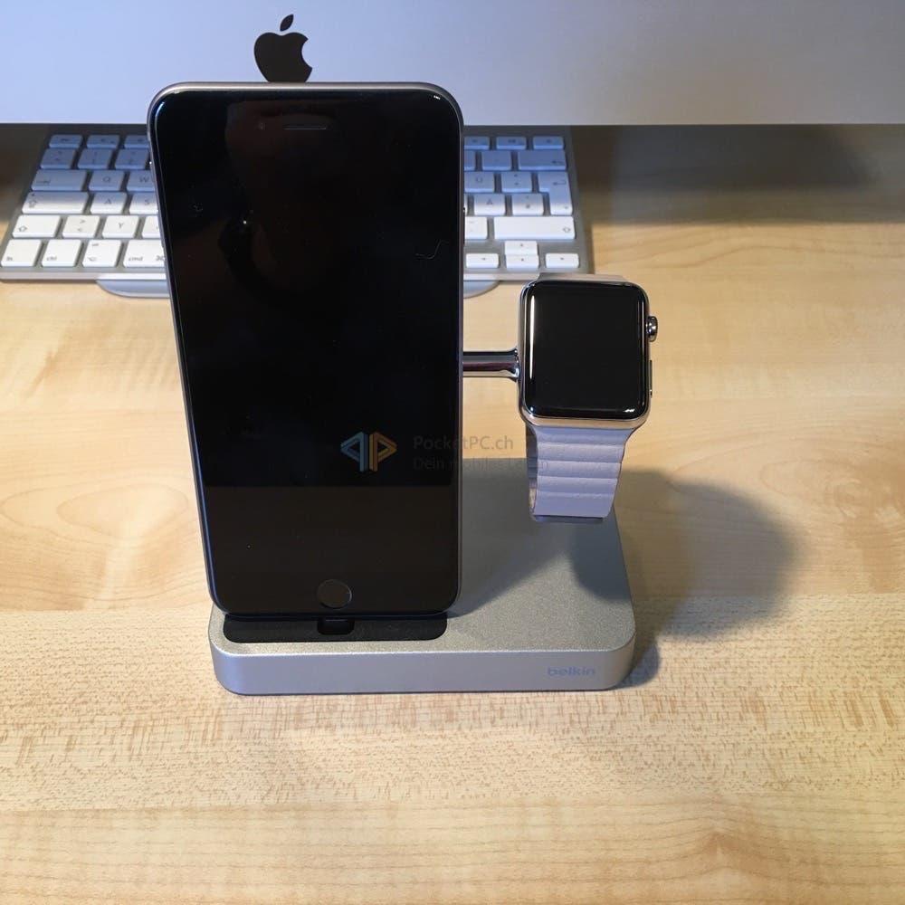 Charge Dock mit iPhone und Apple Watch