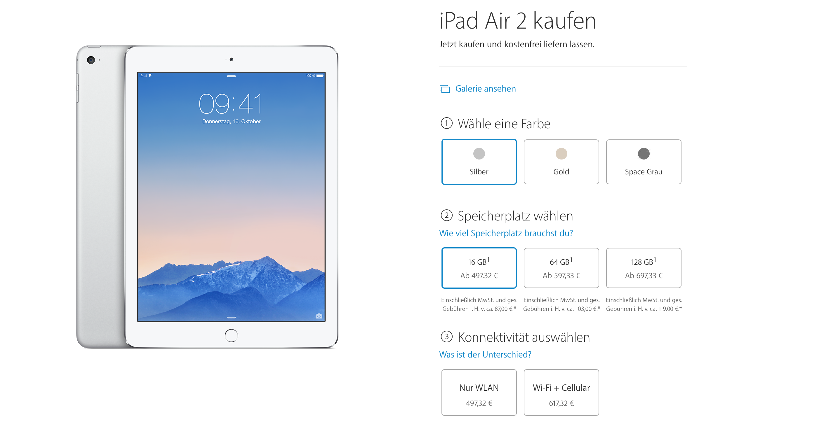 iPad Air 2 Preise Apple Store