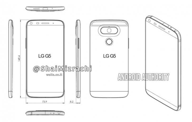 LG G5 Design Grafik Leak