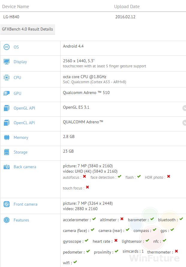 LG H840 GFXBench
