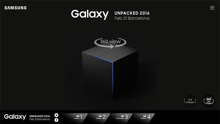 VR_Livestreaming_Main1 Galaxy S7: Unpacked Event wird in 360 Grad Livestream gezeigt