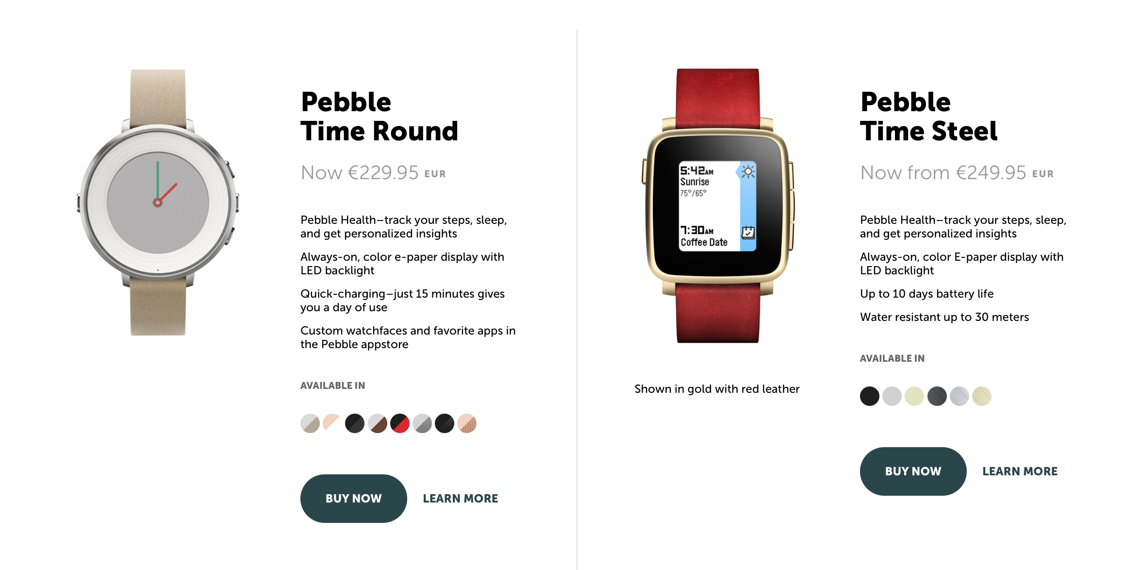 Pebble Smartwatch Preis