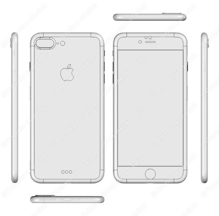 iPhone 7 Pro CAD Leak
