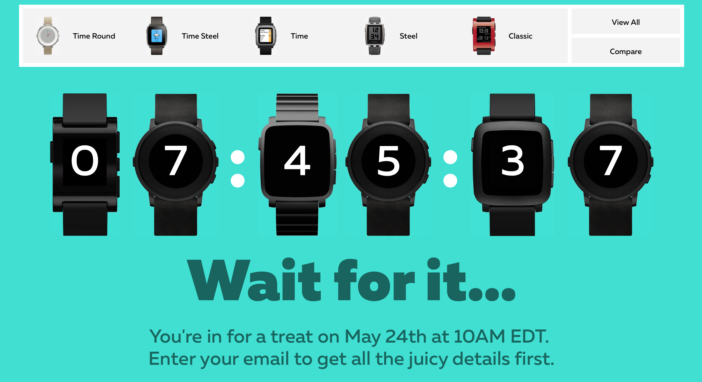 Pebble.com Countdown