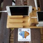 3in1 Apple Watch/iPad/iPhone Echtholz-Dockingstation