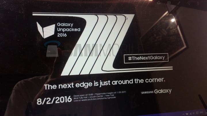 Galaxy Note 7 edge invite