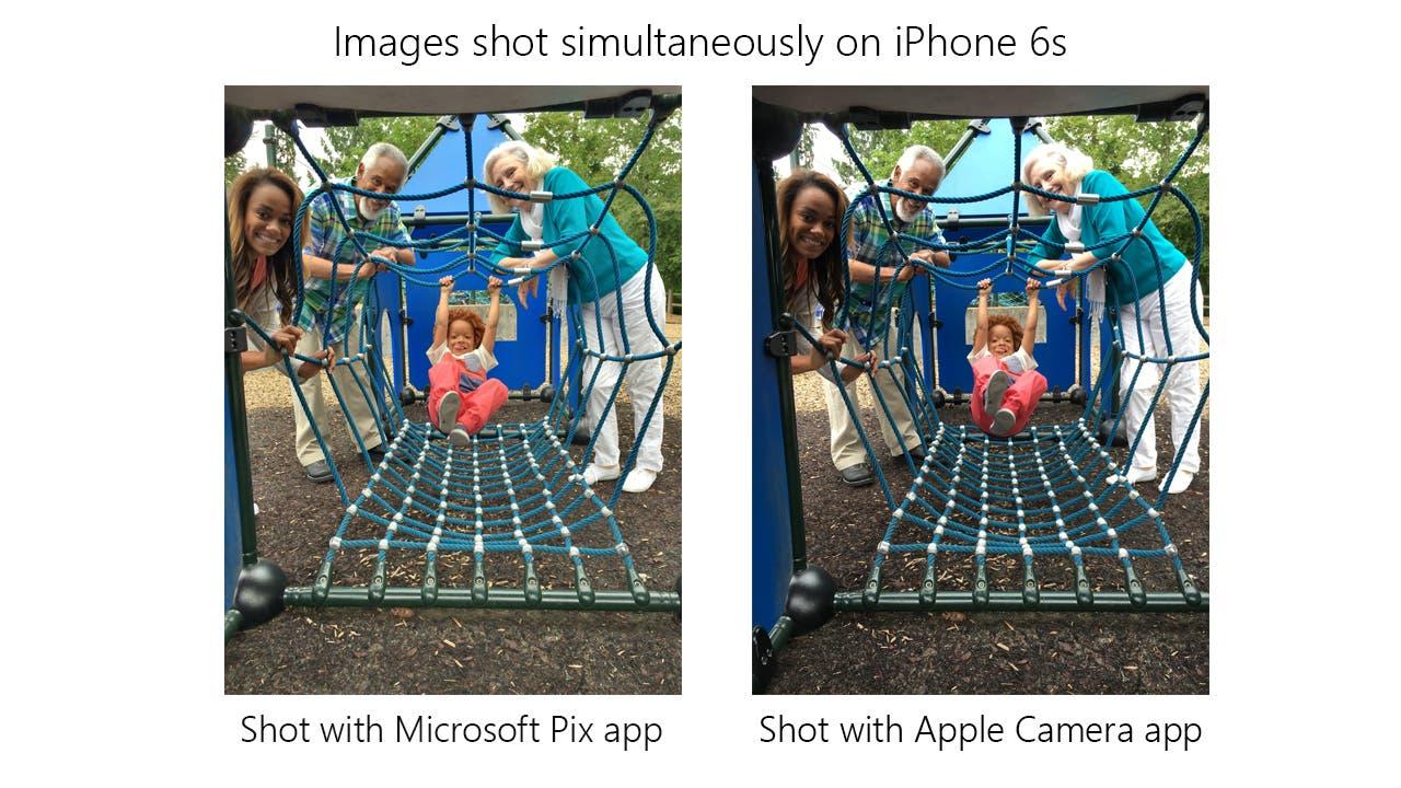 Microsoft Pix Side by Side
