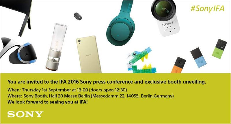 Sony IFA 2016 Teaser