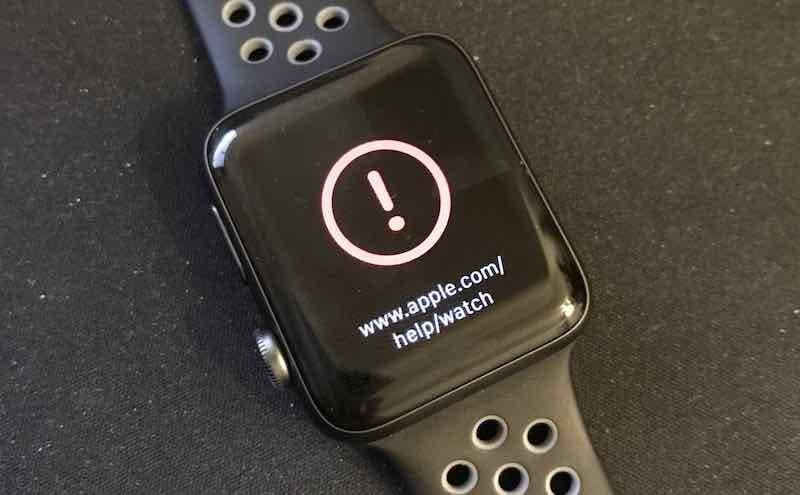 Apple Watch Series 2 watchOS 3.1.1 Brick