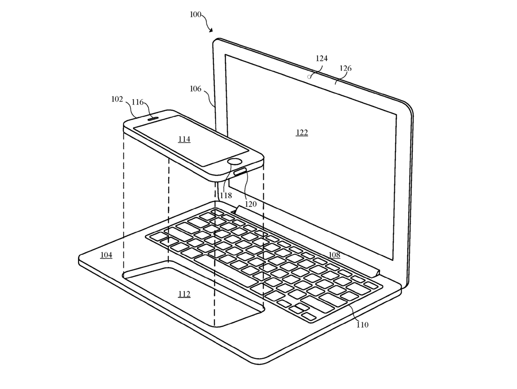Apple Patent iPhone Notebook