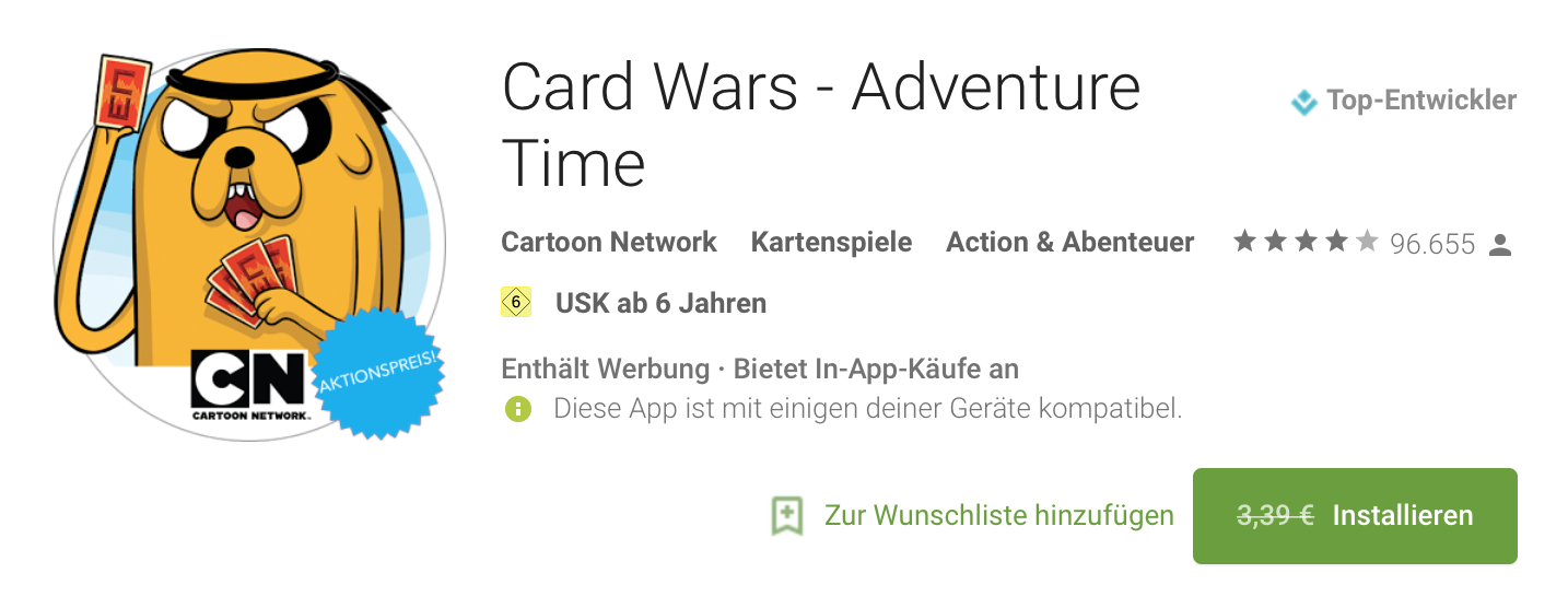 Play Store Free Card Wars
