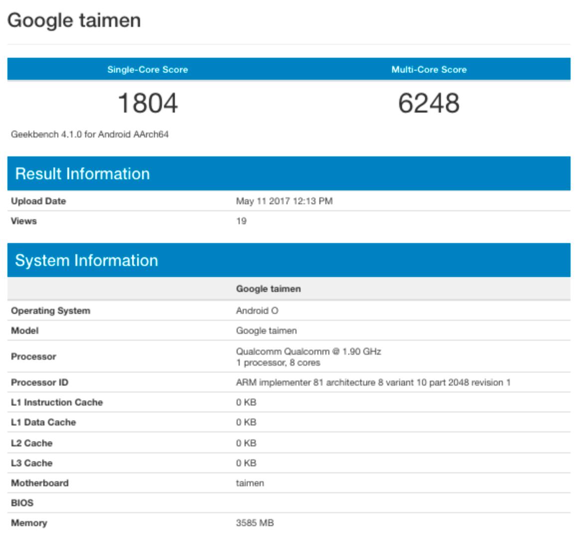 Google Taimen Leak