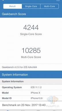 Screenshot iPhone X