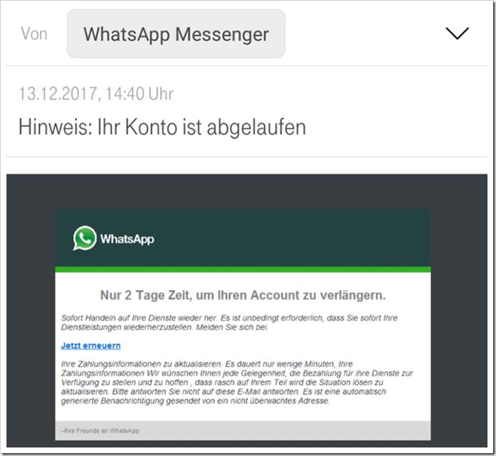 WhatsApp angeblich abgelaufen: Polizei warnt vor neuer Abzockmasche
