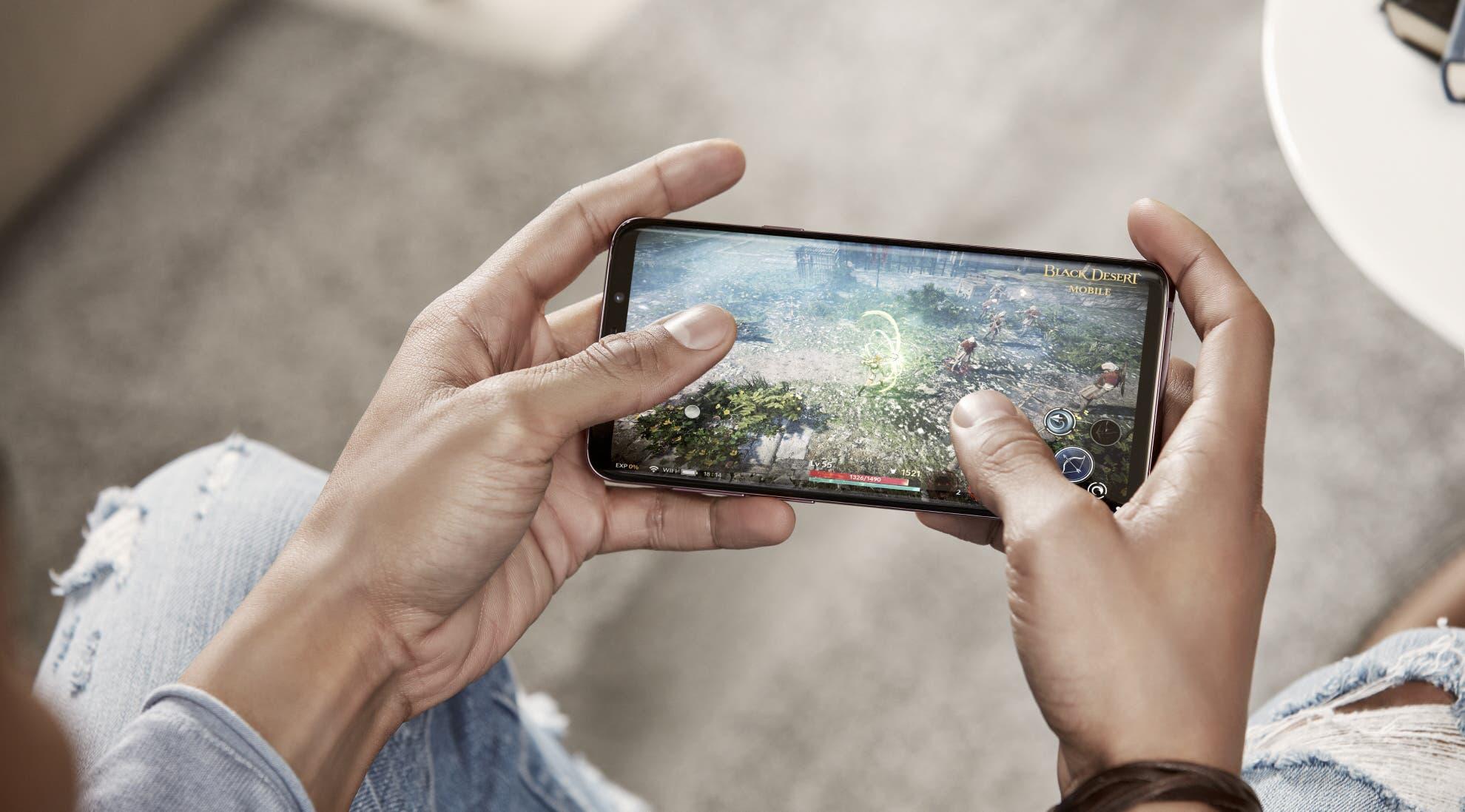 Galaxy S9 beim Spielen