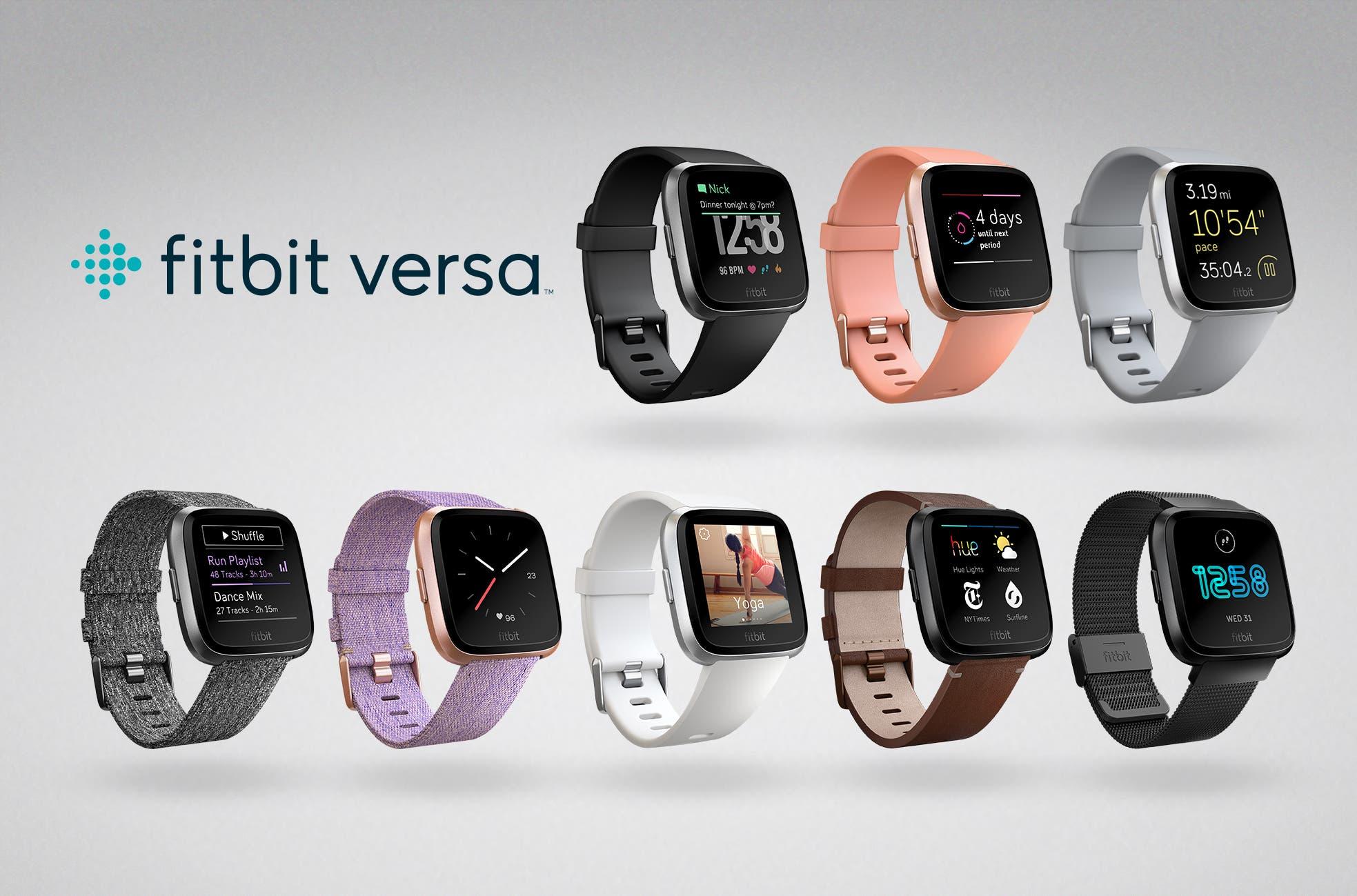 FitBit Versa Lineup