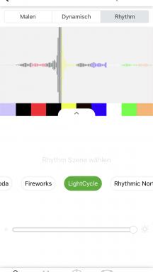 Szenenerstellung im Rhythm-Bereich