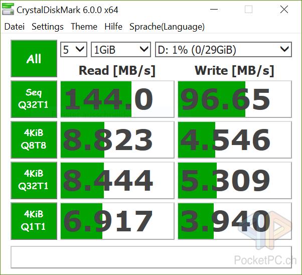 datashur PRO 32 GB CrystalDiskMark 6.0.0 x64