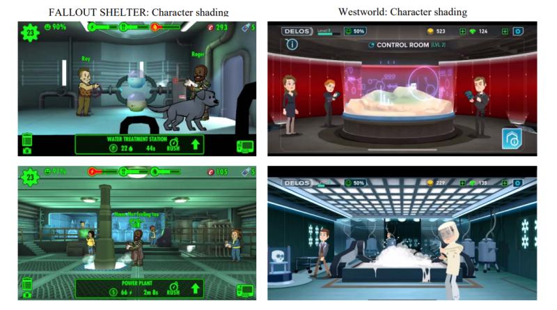 Fallout Shelter vs. Westworld Mobile