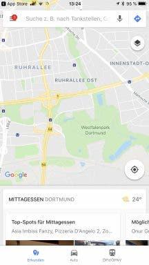 Google Maps iOS Design