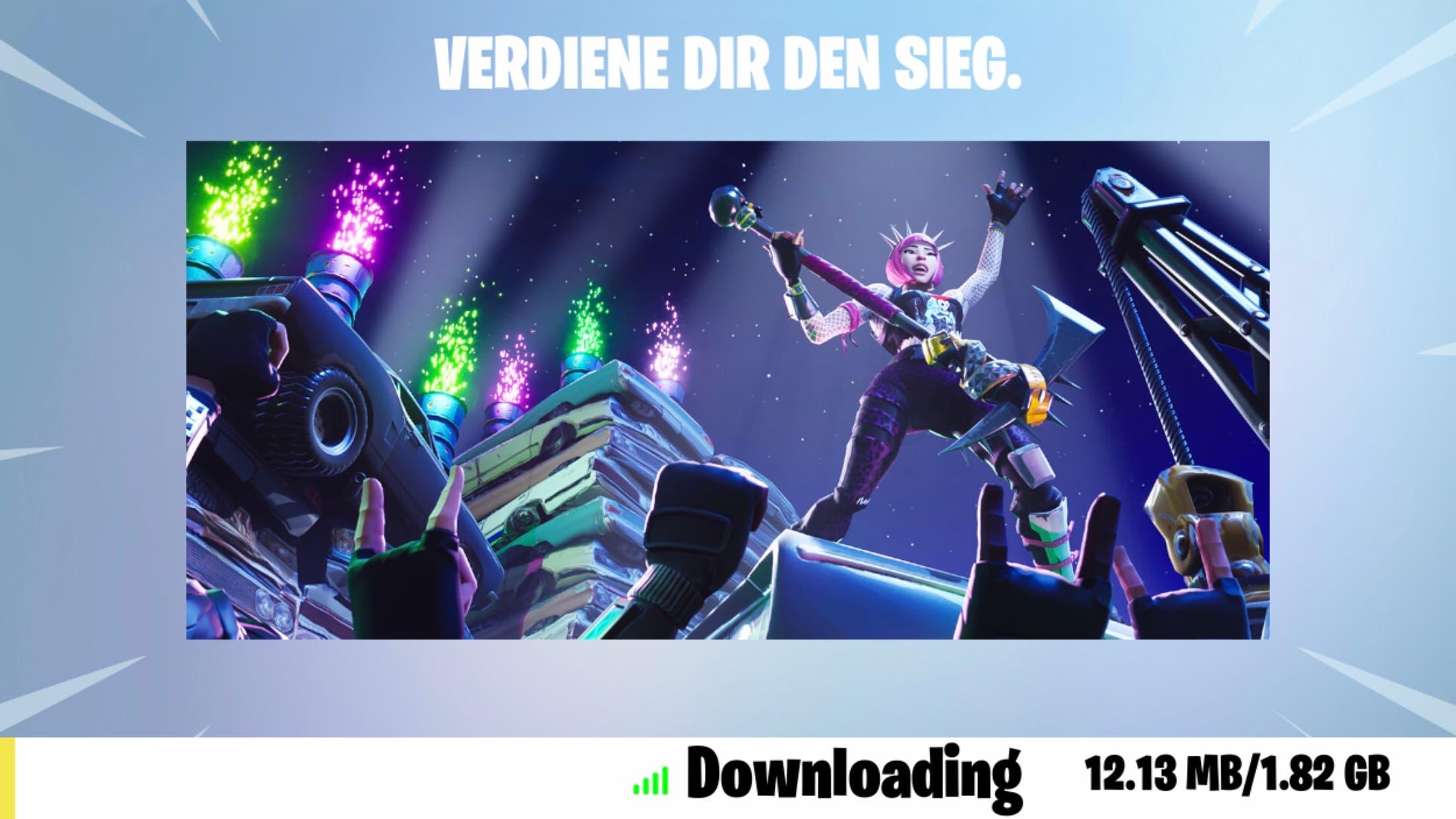 Fortnite 5.0 Update Download auf iPhone 7 Plus